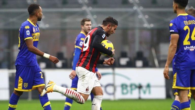 """Тео Ернандес остави Милан непобеден в Калчото, късметът обърна гръб на """"росонерите"""" (видео)"""
