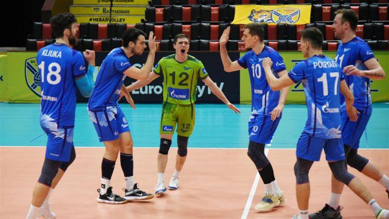 Зенит (Санкт Петербург) на полуфинал за Купата на CEV след победа в Пазарджик (видео + снимки)