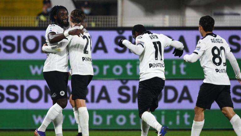 Специя пропиля аванс от два чисти гола срещу Болоня