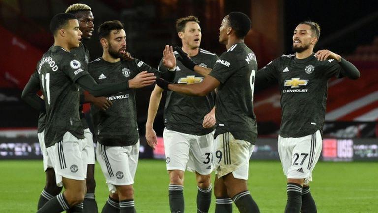 Ман Юнайтед спази традицията при поредната победа като гост (видео)
