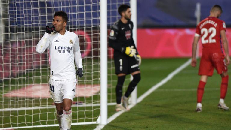 Реал Мадрид почти остана без сили, но пак си свърши работата (видео)