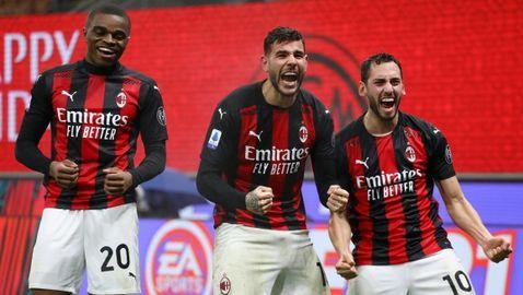 Милан ще посрещне Коледа като лидер след късна драма (видео)