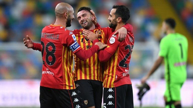 Беневенто измъкна победата срещу Удинезе