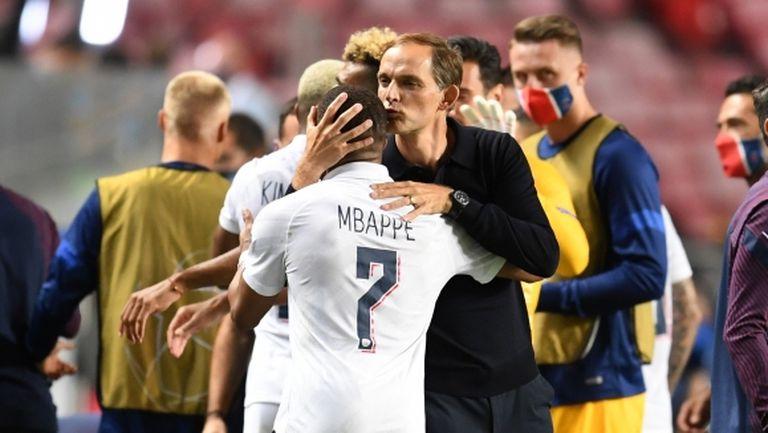 Мбапе показа уважението си към Тухел