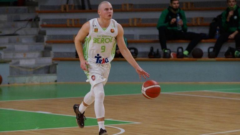 Героят за Берое от мача с Черноморец е MVP на осмия кръг в НБЛ