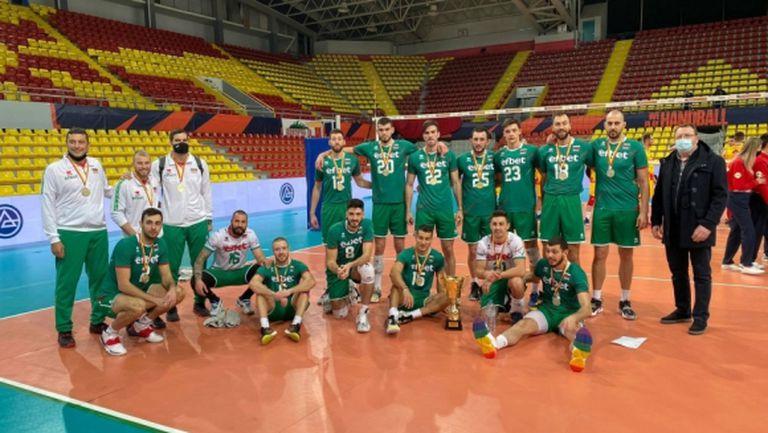 България спечели и втората контрола срещу Северна Македония, Алекс Николов с приз (снимки)