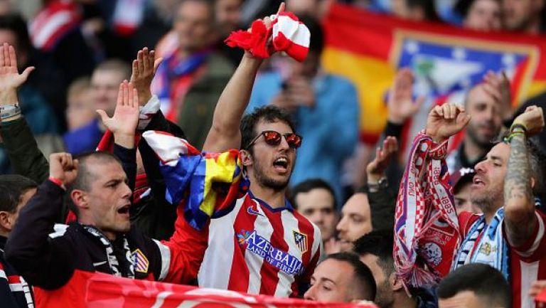 Невероятна радост за феновете на Атлетико след изравнителния гол срещу Арсенал