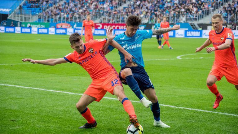 Зенит - ЦСКА (Москва) 0:0
