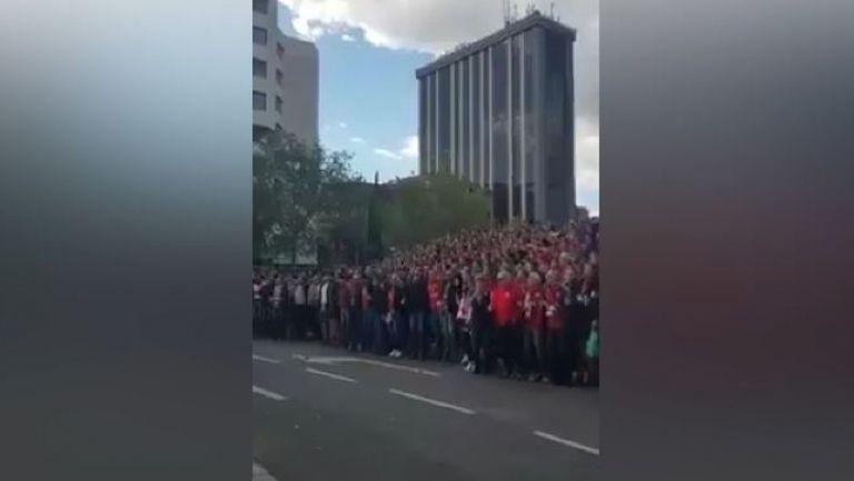 Феновете на Байерн преди реванша с Реал (Мадрид)