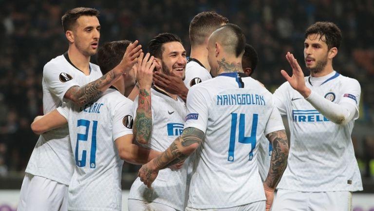 Интер се разправи с Рапид (Виена) за четвърта поредна победа (видео)