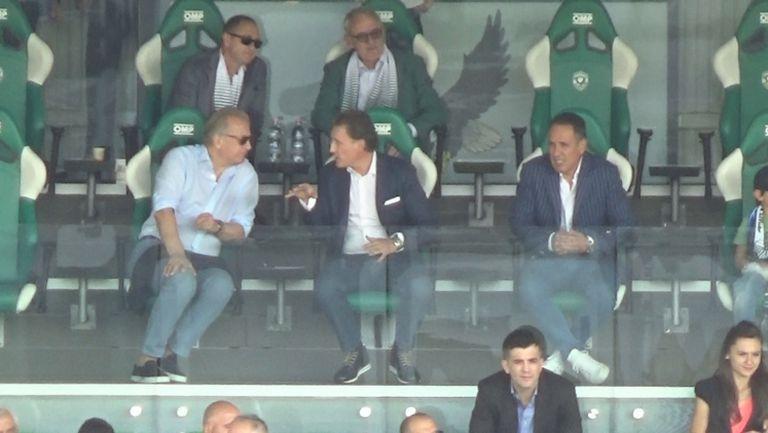 Кирил Домусчиев и Спас Русев гледаха дербито заедно