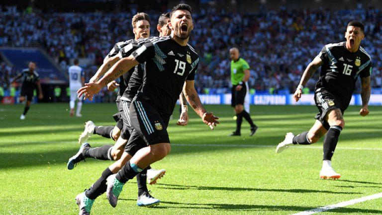 Фантастичен гол на Агуеро и 1:0 за Аржентина срещу Исландия