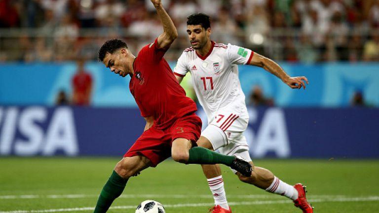 Португалия се промъкна напред след инфарктен мач срещу Иран