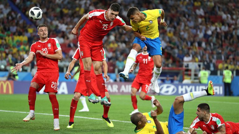 Тиаго Силва уби интригата с втори гол за Бразилия срещу Сърбия