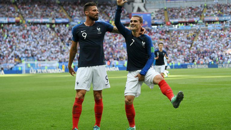 Франция поведе на Аржентина с гол от дузпа на Гризман