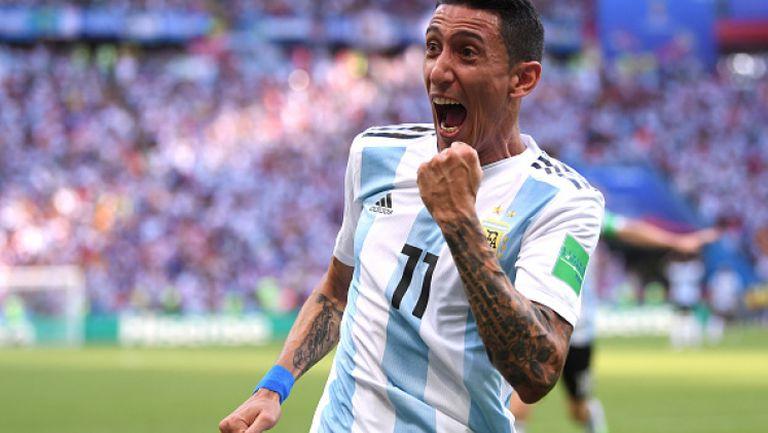 Фамозен шут на Ди Мария върна Аржентина в мача с Франция
