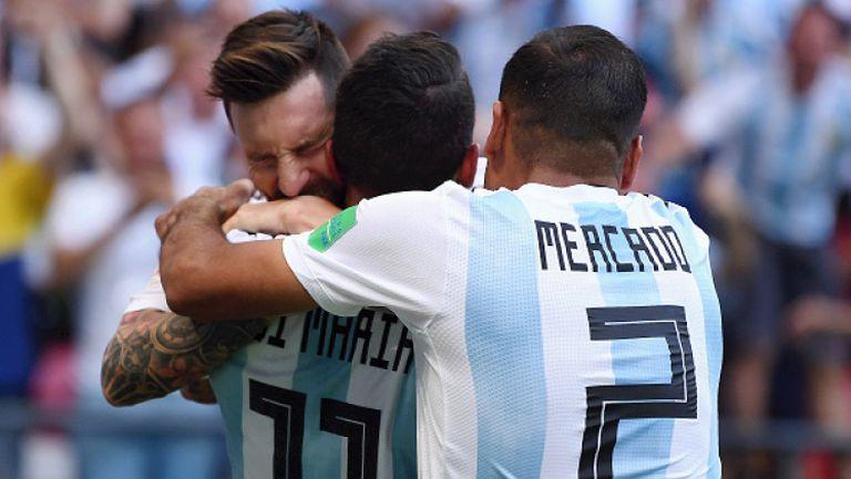 Аржентина обърна Франция след рикошет и гол на Меркадо