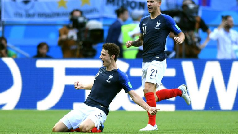 Уникален гол на Павар изравни резултата в мача Франция - Аржентина