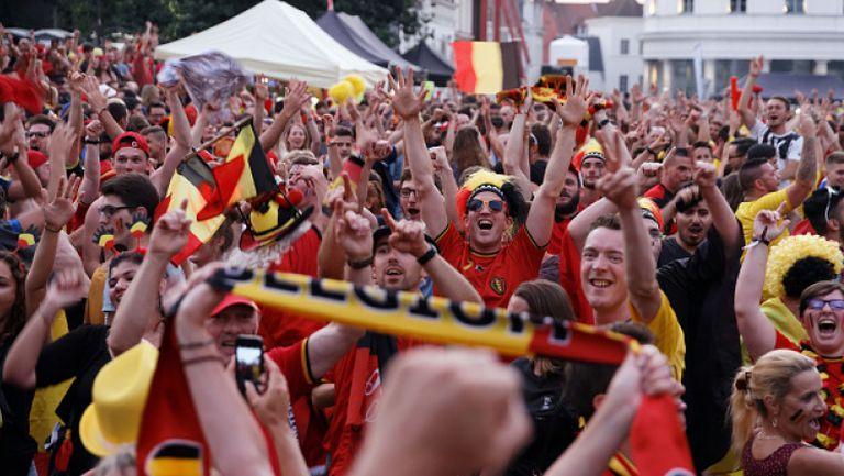 Брюксел празнува исторически втори полуфинал на Белгия