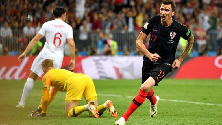 Гол на Манджукич в продълженията приближи Хърватия до победата срещу Англия