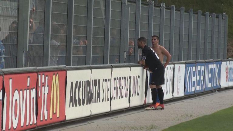 Тежки разговори на Митрев и Горанов с феновете след краха във Вадуц