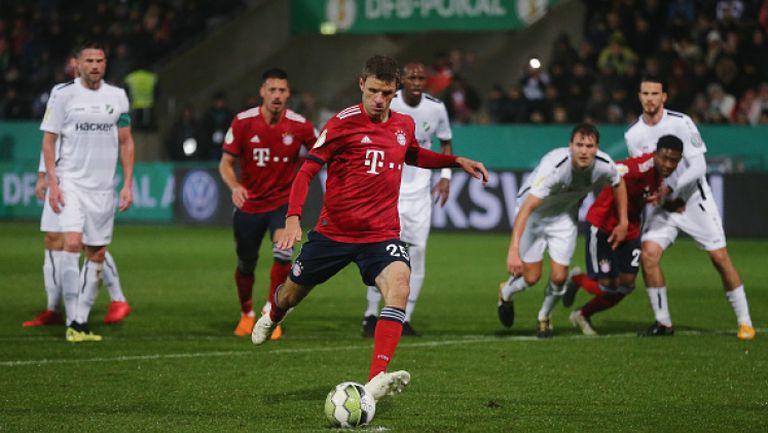 Труден успех за Байерн (Мюнхен) срещу отбор от пета дивизия