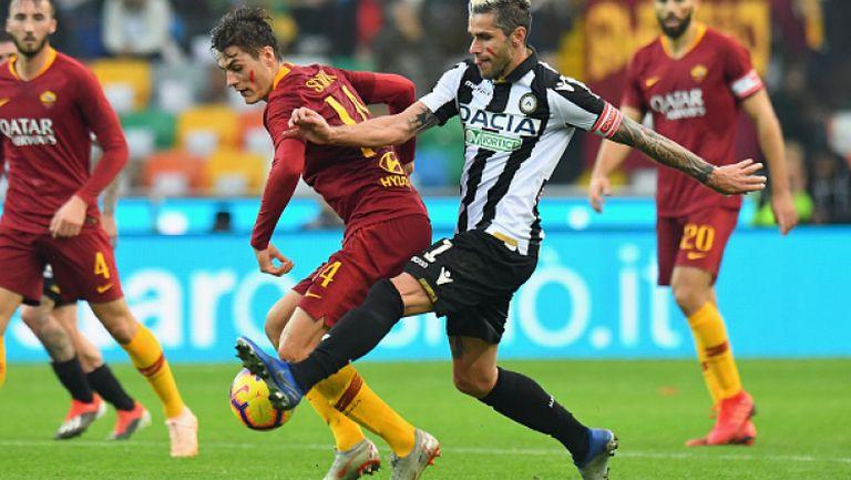 Удинезе успя да измъкне минимална победа срещу Рома