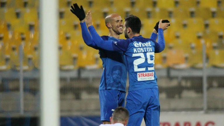 14-ти гол на Костов през сезона и 3:0 за Левски срещу Дунав