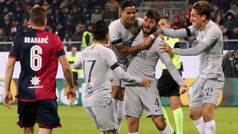 Рома се сгромоляса в края срещу Каляри