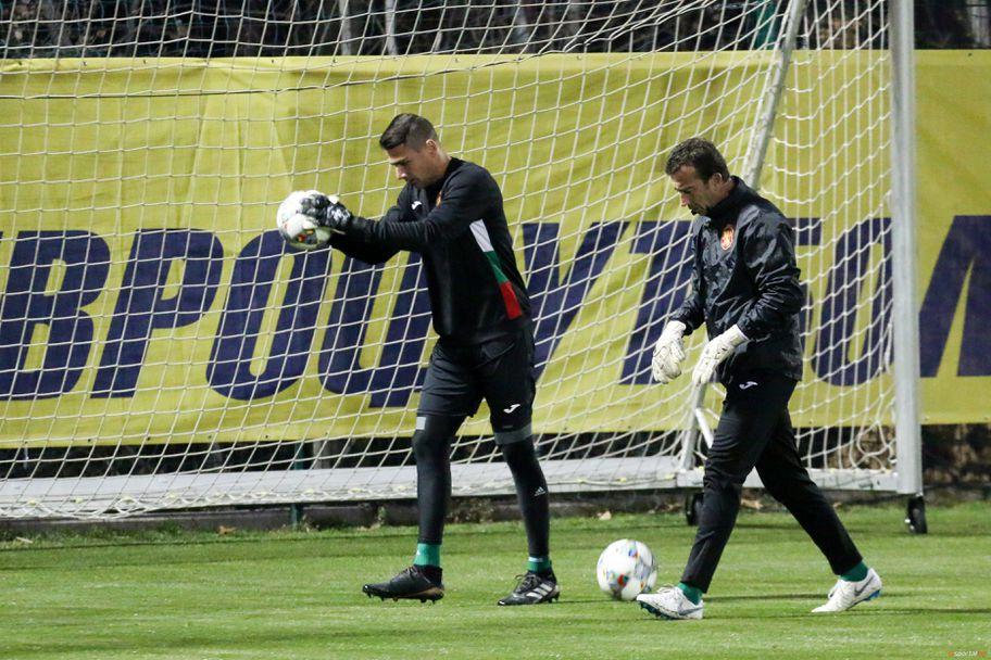 Тренировка на националния отбор по футбол