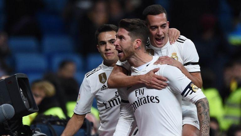 """Реал Мадрид върна усмивките на """"Бернабеу"""", Рамос вкара за стотен път (видео + галерия)"""