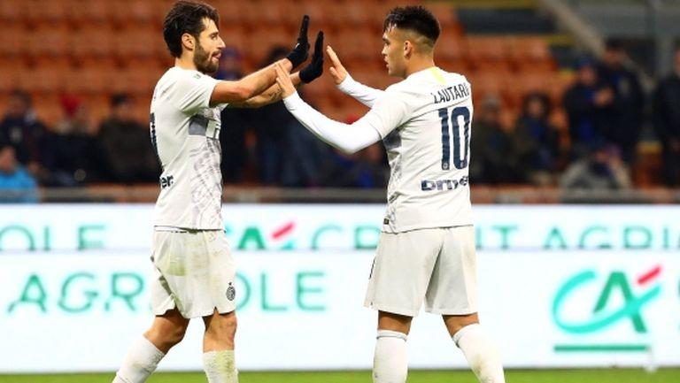 Голово шоу прати Интер на 1/4-финалите за Купата на Италия