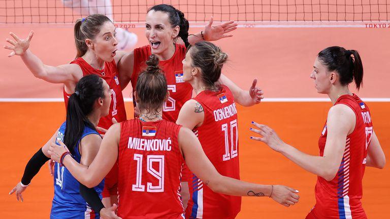 Олимпийските вицешампионки от Сърбия на полуфинал след чист успех над Италия