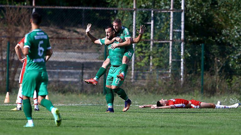Техничен удар с пета на Васил Тачев изведе Оборище напред срещу Беласица