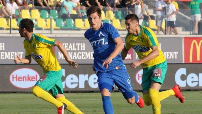 """Много тежка загуба за Левски в Кипър, """"сините"""" почти аут от Лига Европа (видео)"""