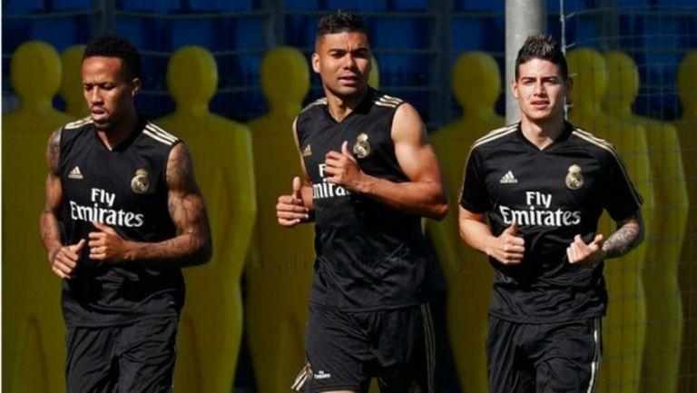 Хамес Родригес отново тренира с Реал Мадрид
