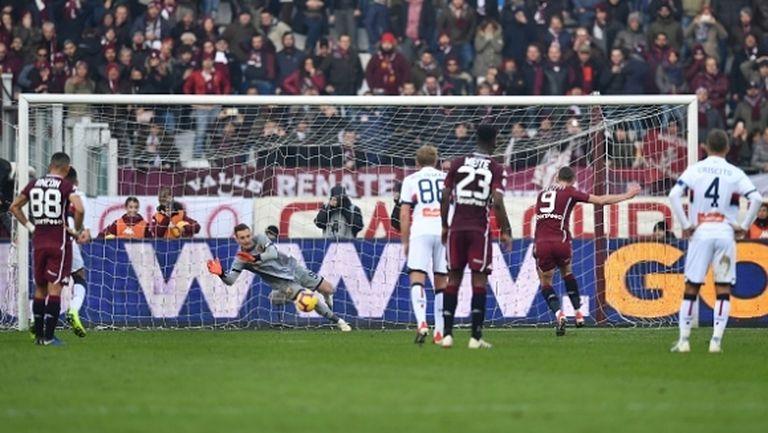 Торино влезе в зона Европа след успех над Дженоа, Белоти се отпуши (видео)