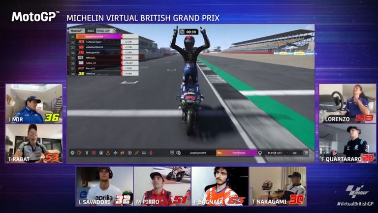 Хорхе Лоренсо спечели виртуалното издание на Гран при на Великобритания