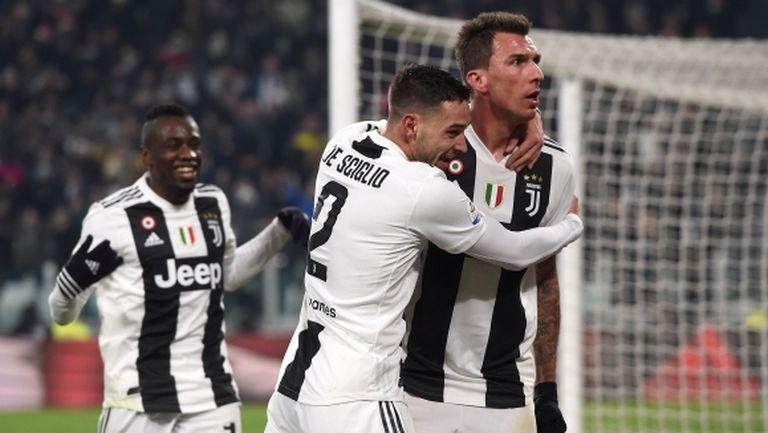 Супер Марио Манджукич повали Рома, въпреки геройските спасявания на Олсен (видео)