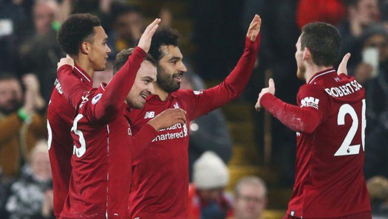 Ливърпул дръпна със седем точки пред шампиона преди дербитата с Арсенал и Ман Сити (видео)