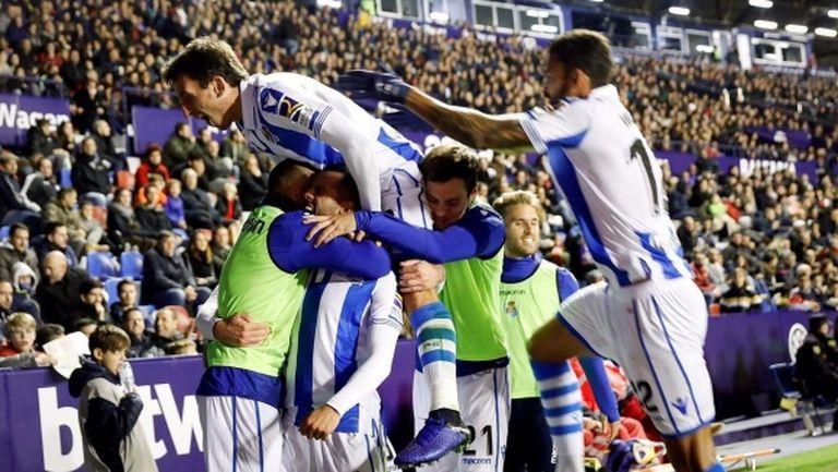 Реал Сосиедад удари Леванте с три гола за 11 минути (видео)