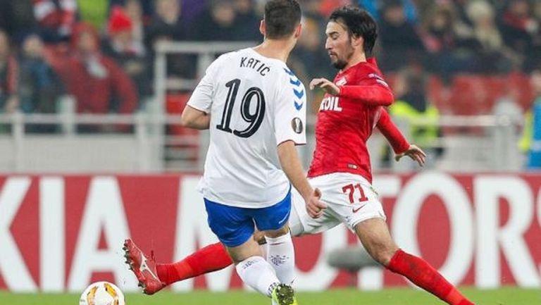 Sky Sports определи Попето за играч на мача след Спартак - Рейнджърс