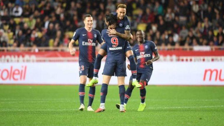 Пари Сен Жермен продължи наказателната акция в Лига 1 и срещу Монако