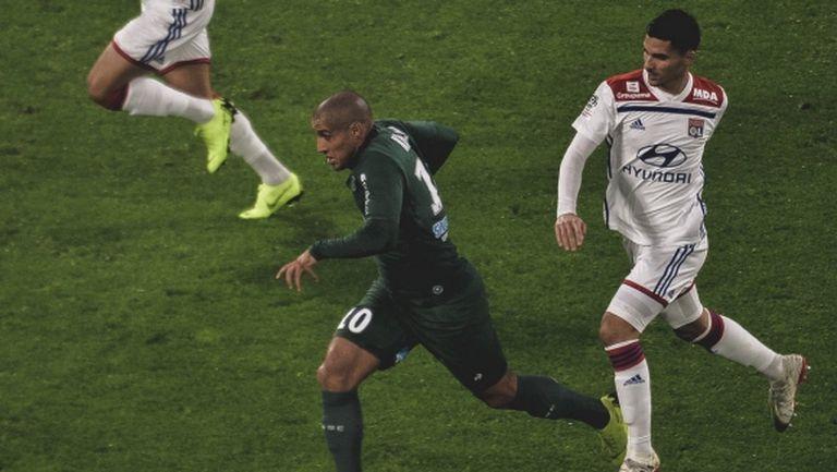 Лион изтръгна победата в дербито със Сент Етиен