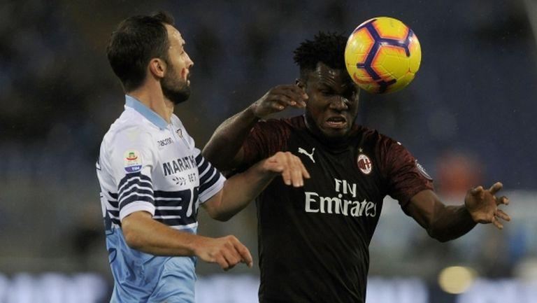 Късна драма подели точките между Лацио и Милан (видео)