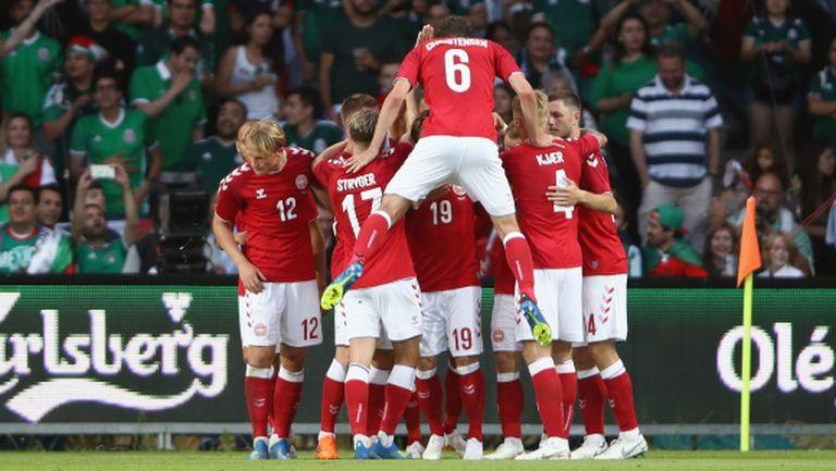 Дания прекърши Мексико с два гола за три минути