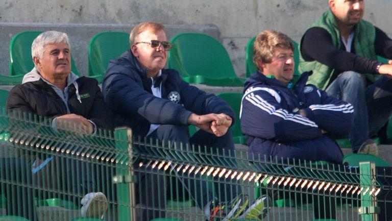 Наско Сираков гледа Бойко Борисов срещу Левски в Бистрица