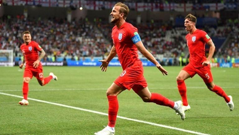Англия изигра едно от най-силните си полувремена на световни първенства, но трябваше да чака до 91-вата минута, за да се зарадва (видео)