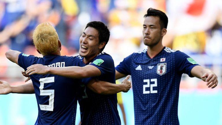 Япония пречупи десетима от Колумбия (видео + галерия)