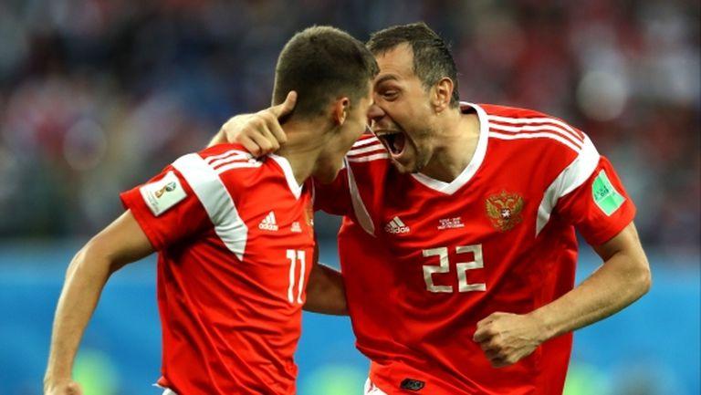 Русия удари Египет и си осигури участие в 1/8-финалите (видео + галерия)